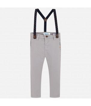 Pantaloni slim fir gri