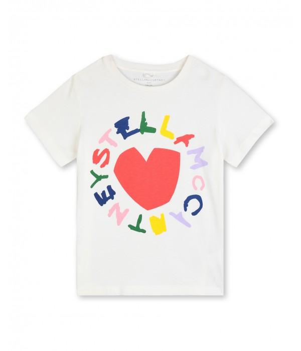 Tricou cu logo multicolor