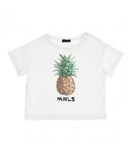Tricou alb MNLS