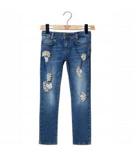 Jeans cu perle