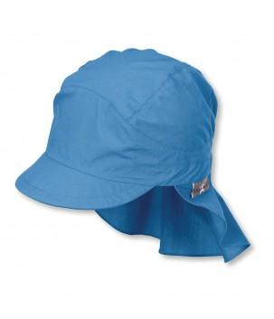 Palarie de soare cu protectie gat albastra