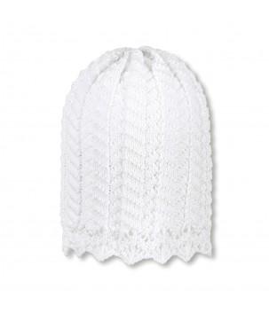 Caciula tricotata Alba