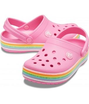 Papuci Crocband Rainbow Glitter