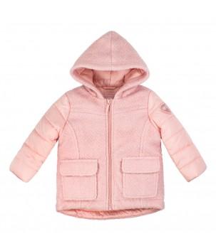 Jacheta roz cu gluga
