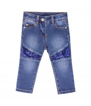Jeans cu paiete
