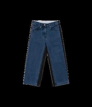 Pantaloni denim Bicolori