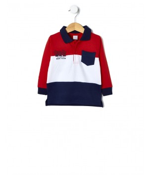 Tricou polo RED AND BLUE