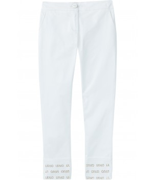 Pantaloni albi eleganti