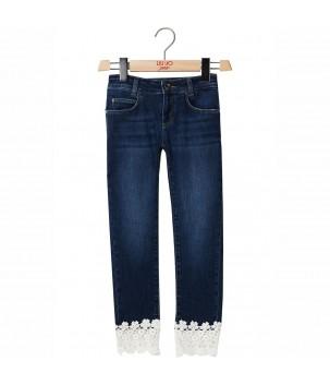 Jeans cu dantela