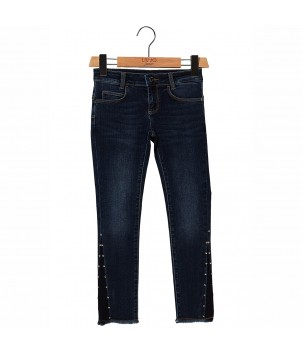 Jeans cu franjuri